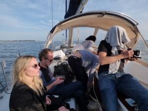 Court métrage à bord d'un voilier