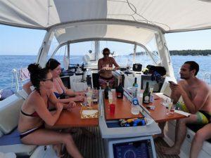 Journée anniversaire en mer
